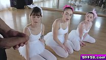 Ashley Anderson and her ballerina bffs fucked thumbnail