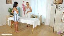 Mira Sunset and Vivien Bell in Sapphic massage lesbians by SapphiX thumbnail