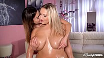 Busty lesbians Chloé and Krystal Swift have a h...