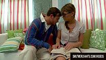 Cute Nerdy American Teen Victoria Lawson Is Seduced by a German Stud