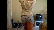 Sexy girl dancing in her thong