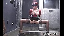 Hardcore bdsm flogging and strapping for dirty slut