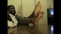 2463091 asian lady with thick wrinkled soles