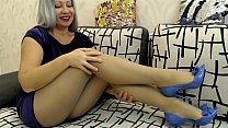 POV - JOI for nylons legs.