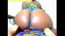 ebony show big ass in webcam and big pussy