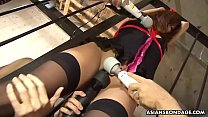 Aoi Mikami got tied up and slowly to cum