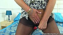 English milf Ellen doesn't wear knickers today image