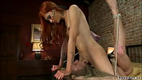 Cheating man anal fucked by busty TS