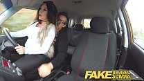 Fake Driving School Instructor gets titty wank from busty british babe