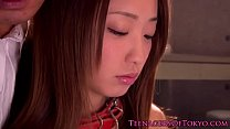 Chained asian teen fingered video
