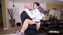Cute fragile teen gets pounded hard by her stepfather