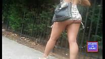 Sexy As Redbone Skirt Comes Up !!!!!  NO Panties  !!!!  ATLANTA24HOURS.COM