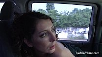 Exhib milf masturbating in the taxi before getting ass fucked by the driver Preview