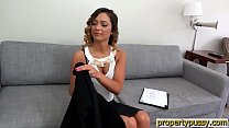 Realtor teen with a hairy pussy fucked by a potential client preview image