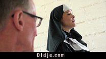 Old man makes young monastery nun fornicate Image