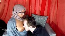 Arab milf breastfeeding her new husband صورة