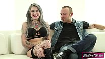 Busty Ink Babe  Throats And Fucked On Cam ked On Cam