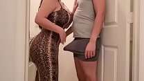 Big ass mom and big tits in dress fucks her son in the laundry room - PornoGozo.com