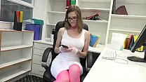 Gorgeous Office Whore Gets Destroyed By Random Guy Off the Internet Preview