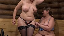 Mature lesbians insert panties in thick pussies and fuck with big dildos. Milfs love fetish games.