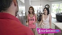 Sumptuous Stepsisters Alina Belle And Maya Farrell Are Psyched When Their Stepbrother Gets Hired At Their Favorite Nightclub Full Scene On Stepsiblings3x