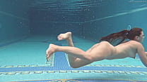 Sazan Cheharda on and underwater naked swimming