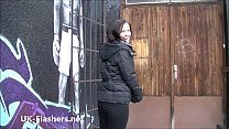 Daring Belindas public flashing and brunettes wild outdoor masturbation with nau Preview