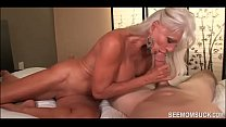 Granny Goes WILD over His Huge Dick - See Mom Suck