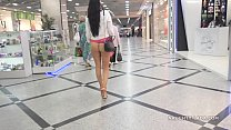 No panties shopping public flashing upskirt thumbnail