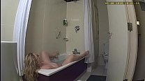 Wife caught on spycam playing with herself in hotel bathroom
