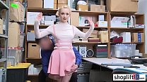 Hot blonde teen banged by cop because she stole...