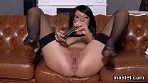 Frisky czech chick stretches her wet honey pot to the special
