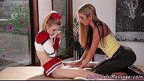 Smalltits lesbian massaged by tattooed milf