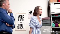 Busty Brunette MILF Steals And Hides Stuff In H...