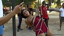 Slaves in bondage d. in public