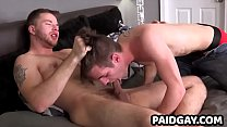 Straight Mikah Lake gets blowjob from twink before giving rimjob
