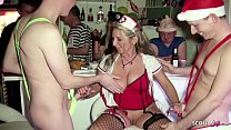 Fuck in front of Friends on Party from German MILF Jenny