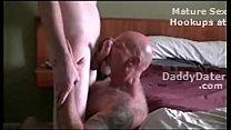 Hairy Tattooed Daddybear Sucking off a Twink and Drinking Cum