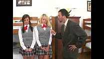Professor gets seduced by two hotties! video
