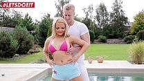 LETSDOEIT - Big Tits MILF Jenna Lovely Bangs Hardcore By The Pool After Yoga Session