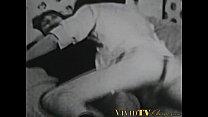 Classic porn video of couple having hardcore sex