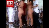 Mujeres desnudas en fiesta porno en carcel de El salvador video