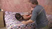 Submissive kinky babe fucked by an older guy