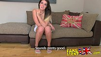 Image: FakeAgentUK Husky voiced amateur with massive natural tits in creampie casting