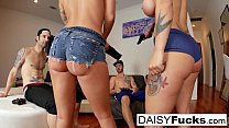 Daisy Monroe & Dollie get pounded in a hardcore foursome