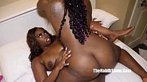ambitious booty grinding on that chocolate booty jada dee