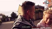 British blonde girl next door pick up from german tourist