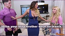FILTHY FAMILY - Kenzie Reeves and Connor Kennedy Are Fighting, So Stepmom Brooklyn Chase Makes Them Fuck