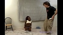 Ebony Midget Fucked by White Dude