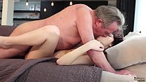 Old and Young Porn - Sweet innocent girlfriend gets fucked by grandpa preview image